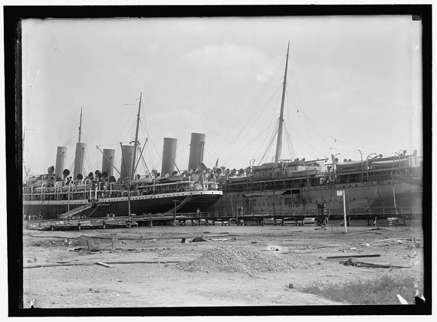 Interned German Ships