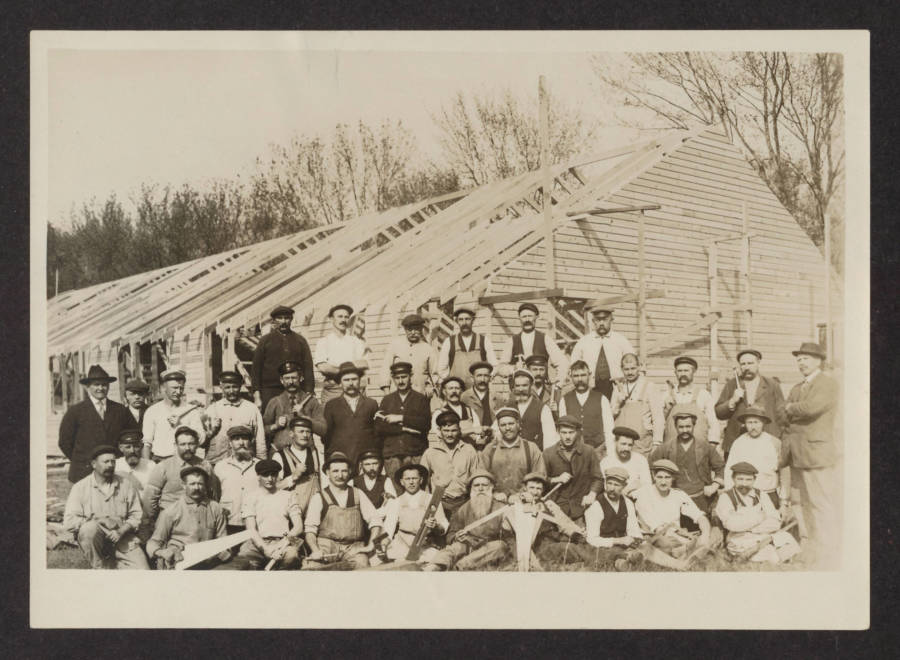 Internment Camp Prisoners Working
