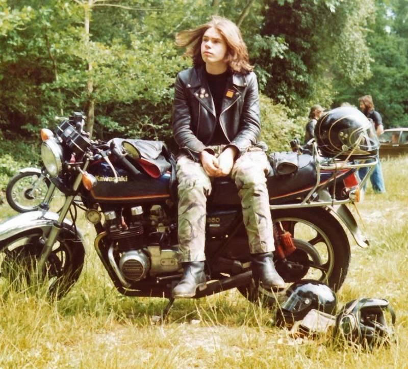 Man Posing On Motorcycle