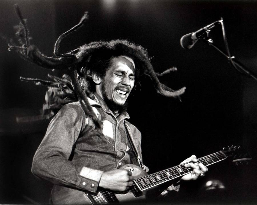 Marley Playing Guitar Live