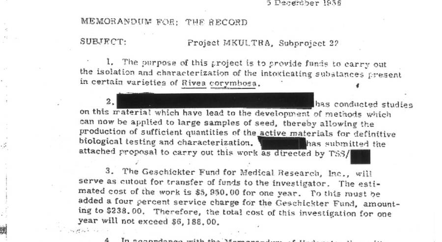 Mkultra Document Redacted