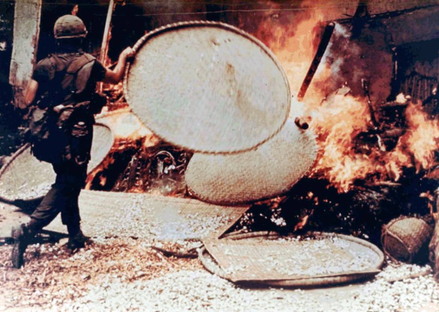 My Lai Burning Dwelling