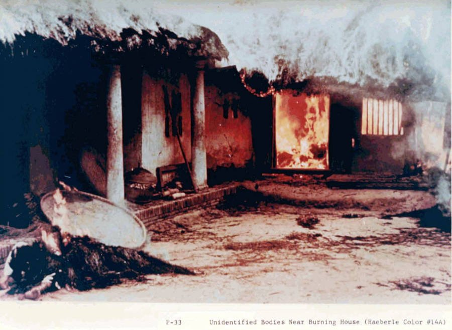 My Lai Burning House