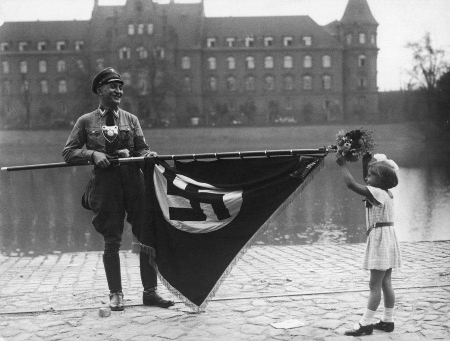 Nazi Flag Adorned