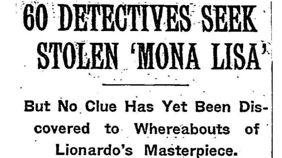 Ny Times Headline About Mona Lisa Theft