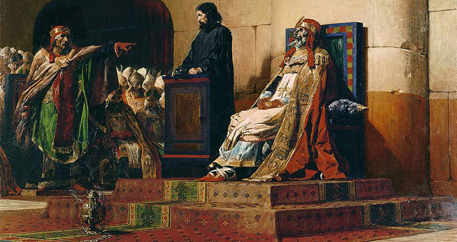 Painting Of Trial Of Pope Formosus