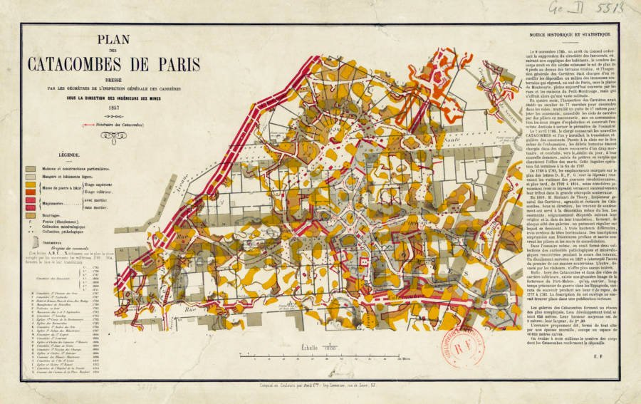 Paris Catacombs Map