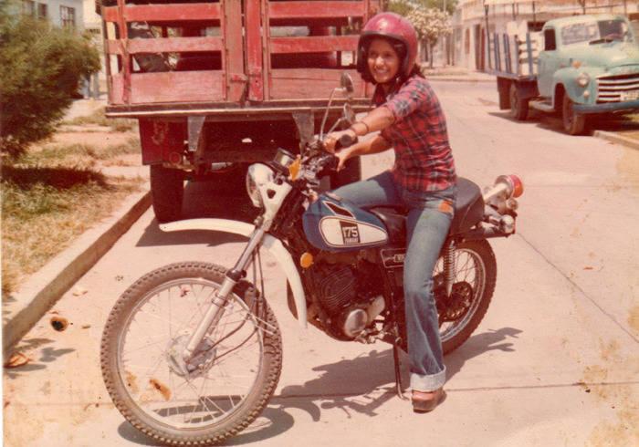 Plaid Girl Motorbike