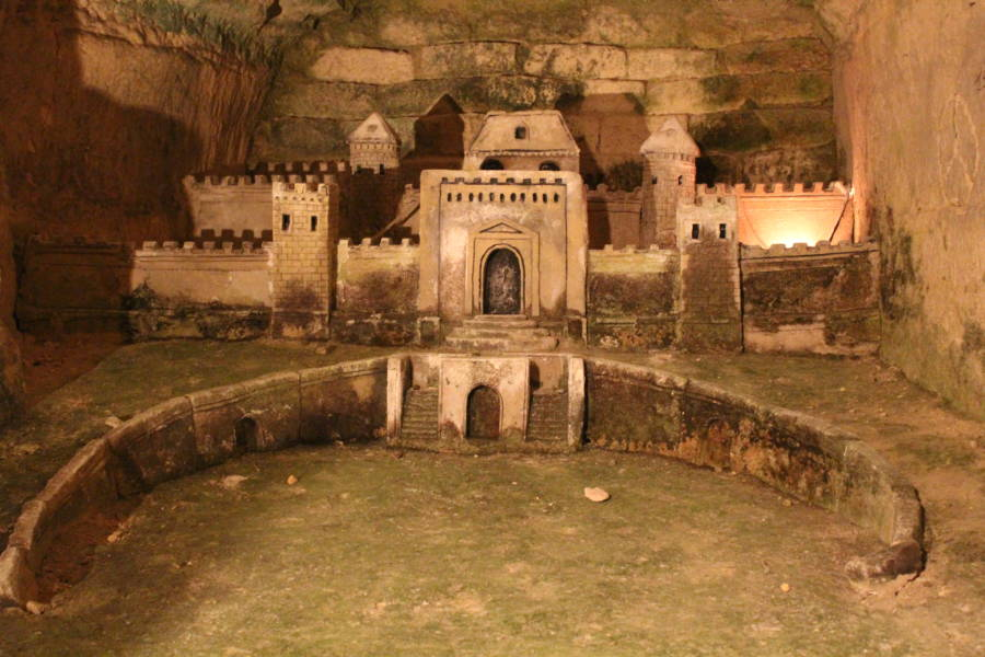 Fortress in French Catacombs