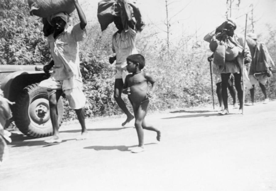 Refugees Fleeing India 1942