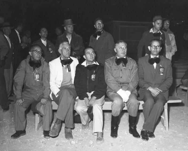 Representatives Watching Atomic Blast
