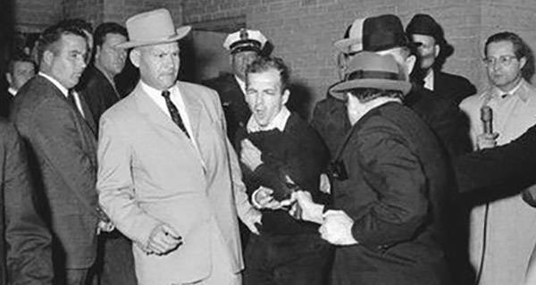 Jack Ruby shoots Lee Harvey Oswald live deaths