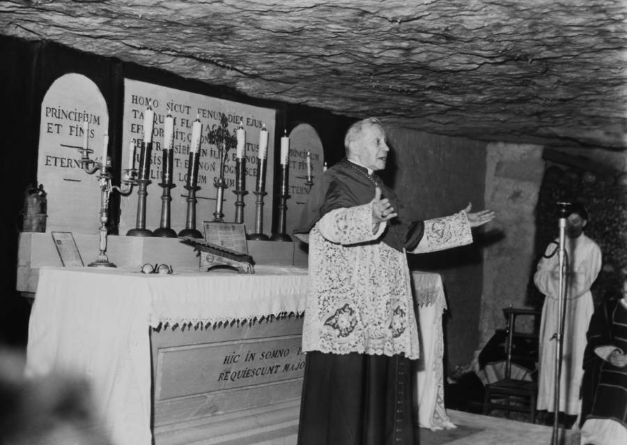 Priest in the French Catacombs