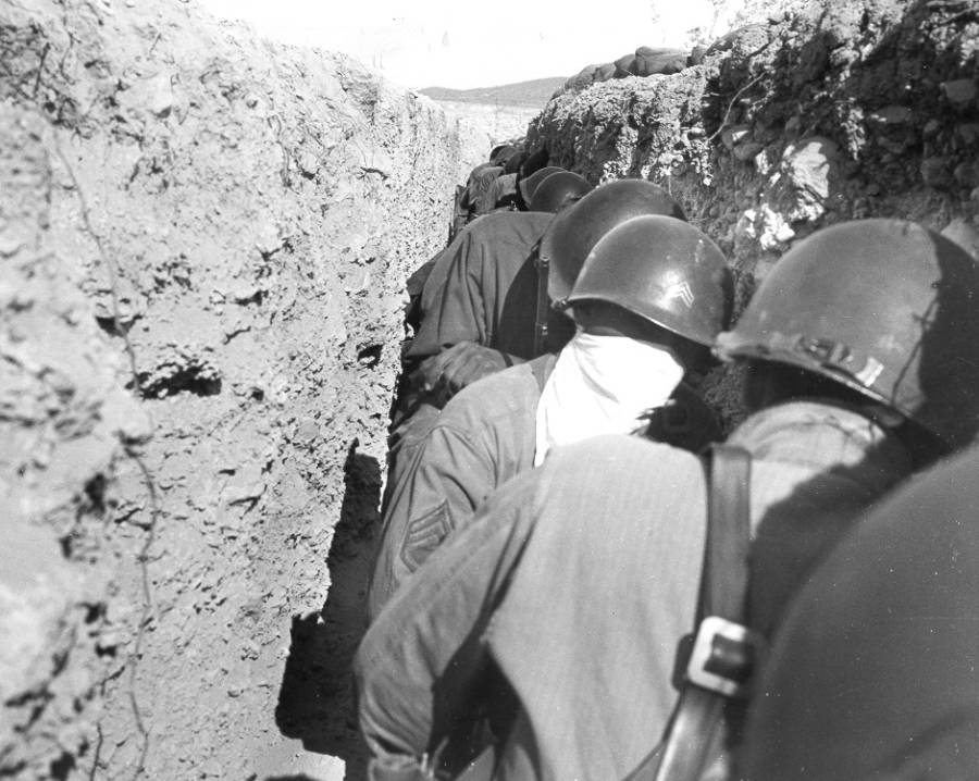 Soldiers In Ditch