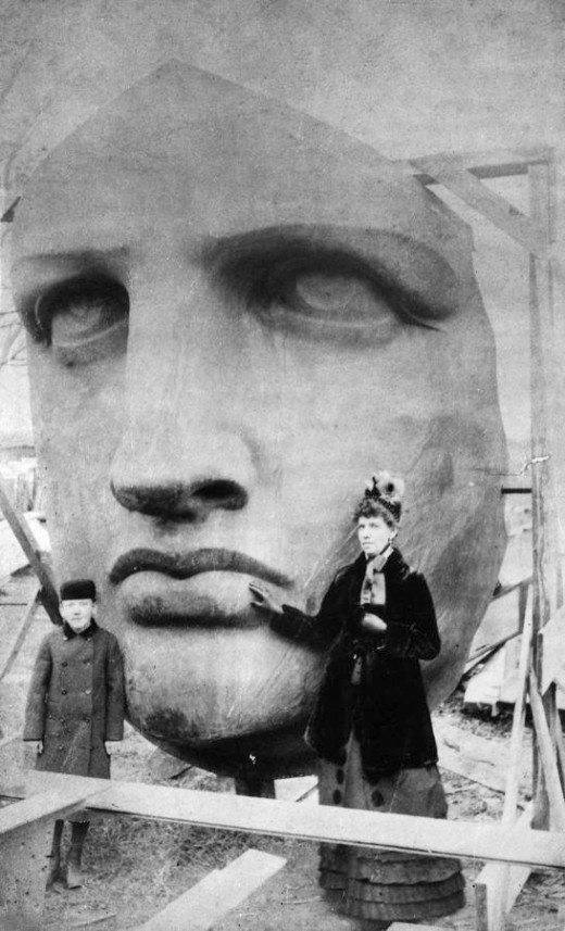 Statue Of Liberty Head Weird