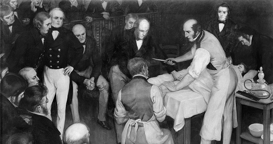Robert Liston Performing Surgery