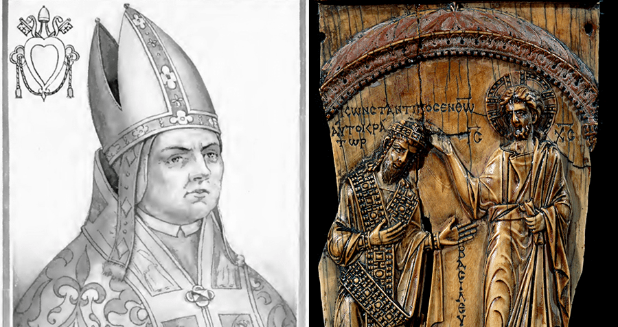 Pope Sylvester II And Constantine VII