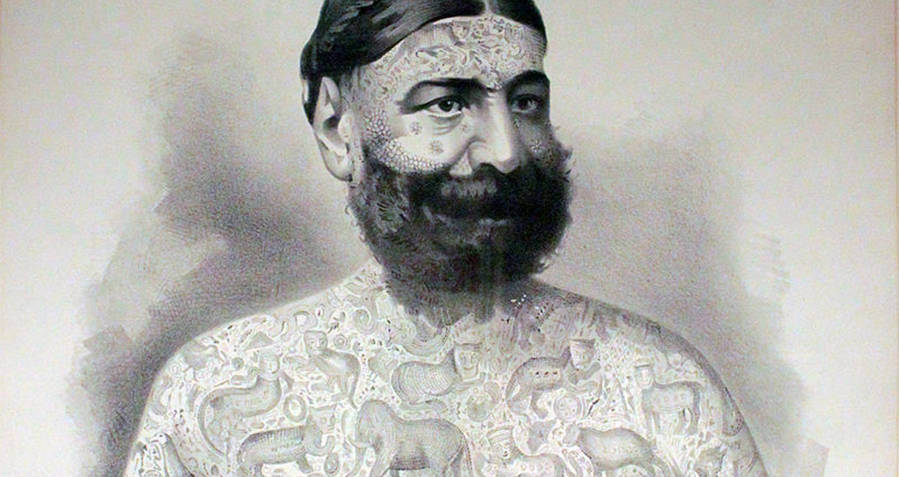 Tattooed Man George Costentenus
