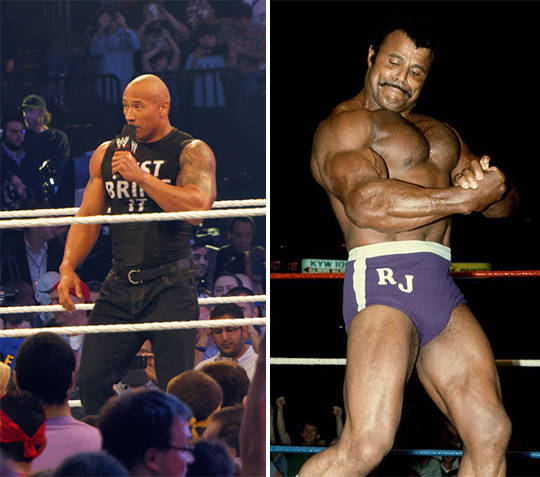 The Rock and Rocky Johnson