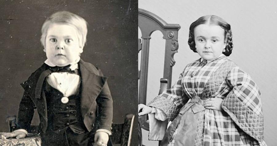 Tom Thumb and Lavinia Williams little people