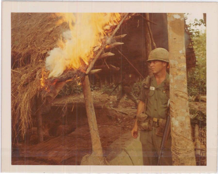 Vietnam War Photos Flames