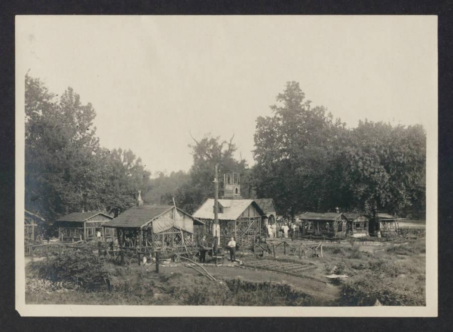 Wide Shot Internment Camp