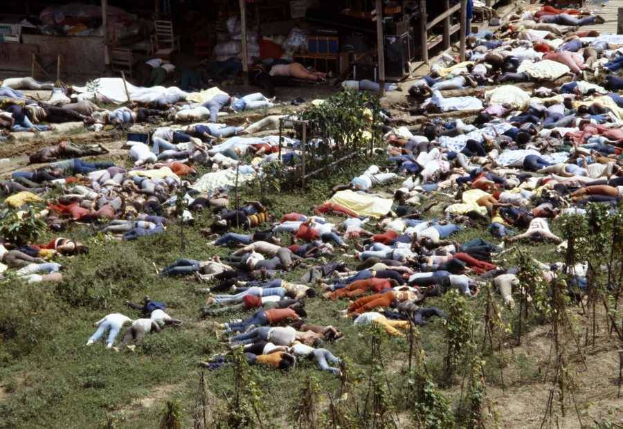 Wide Shot Of Jonestown Dead