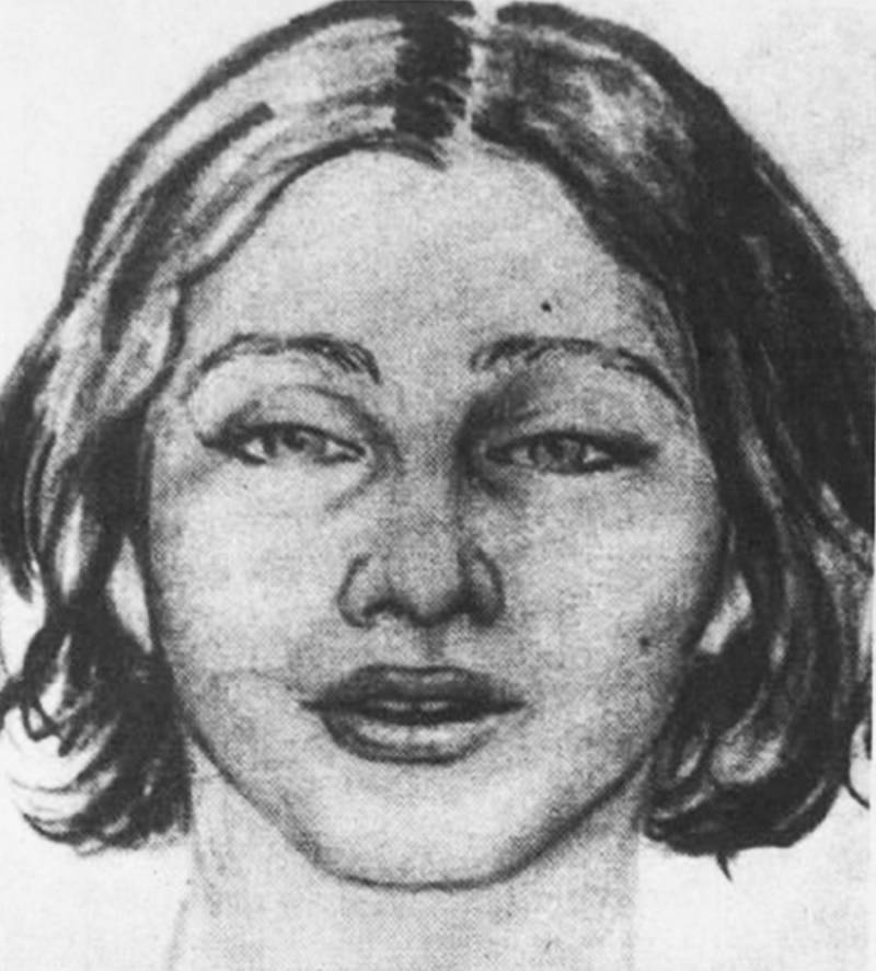 Composite Drawing of Beth Doe from Carbon County