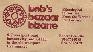 Robert Berdella's business card