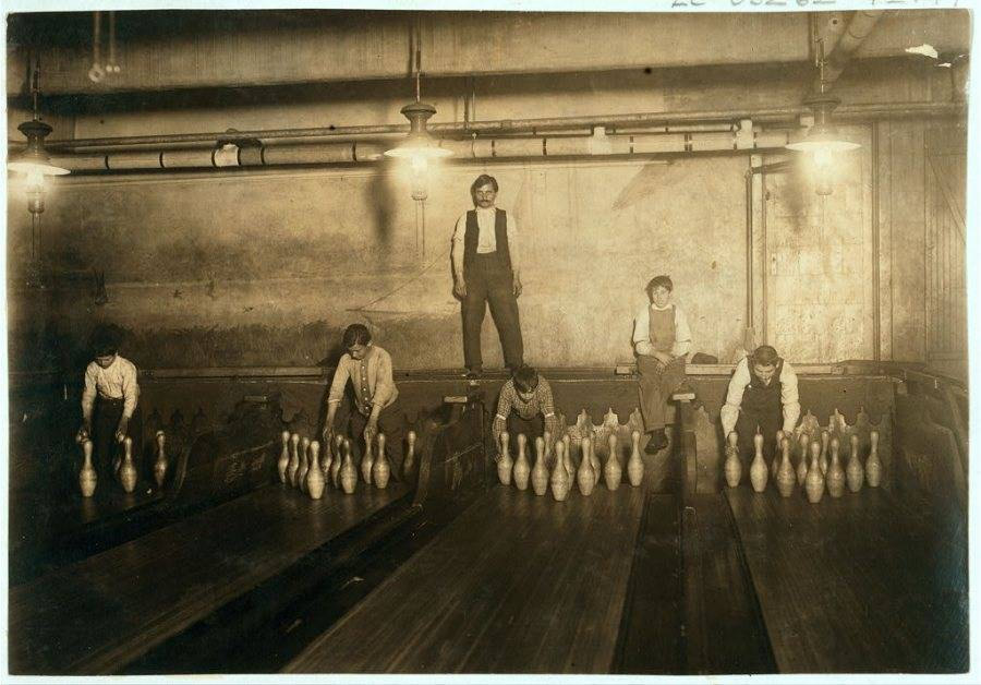 Boys Working Bowling Alley