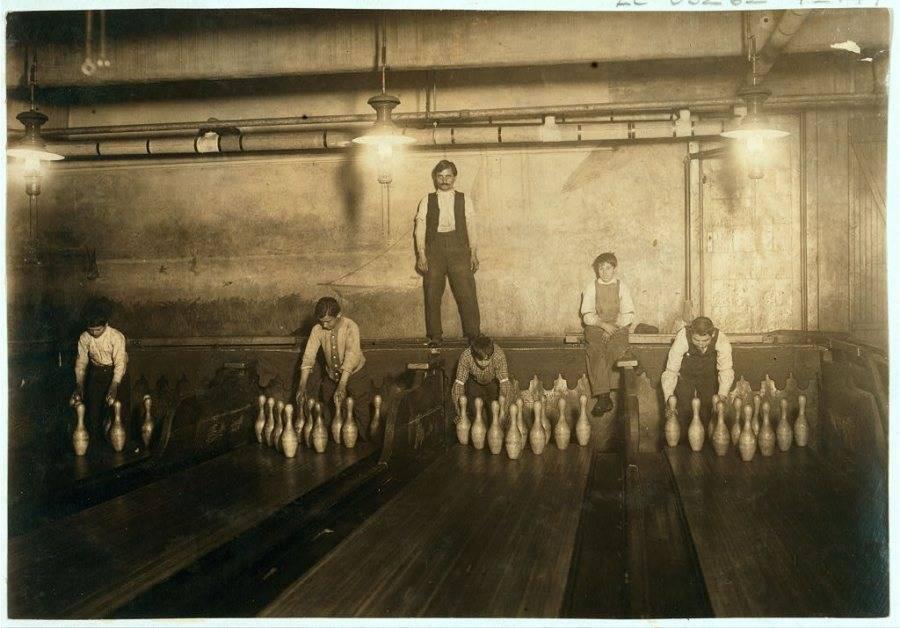 Boys Working Bowling Alley