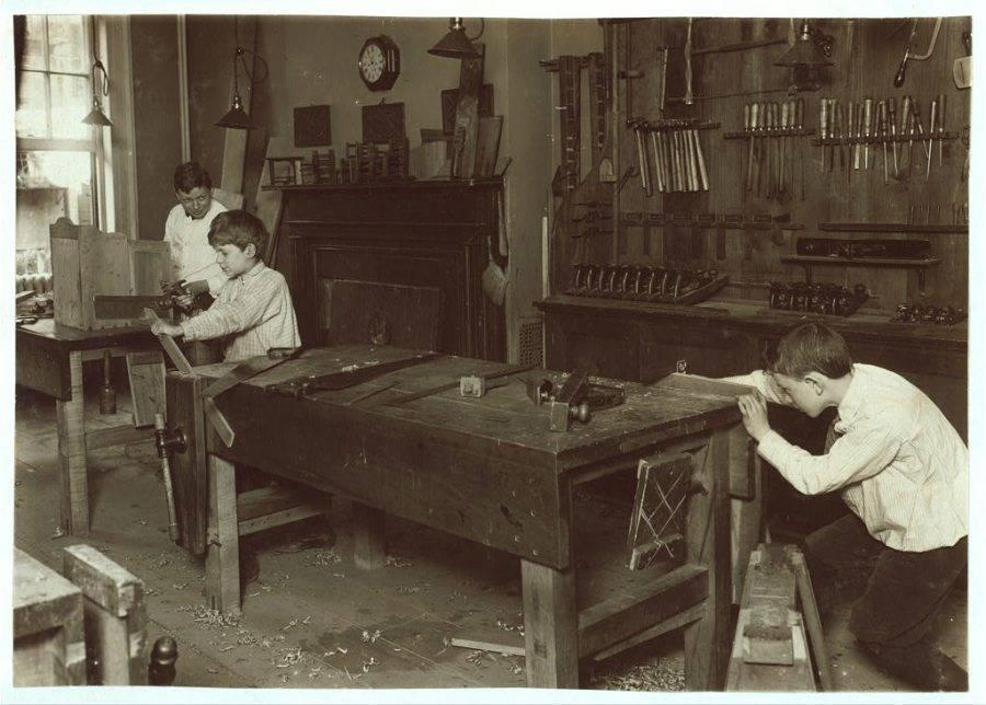 Boys Working In Shop
