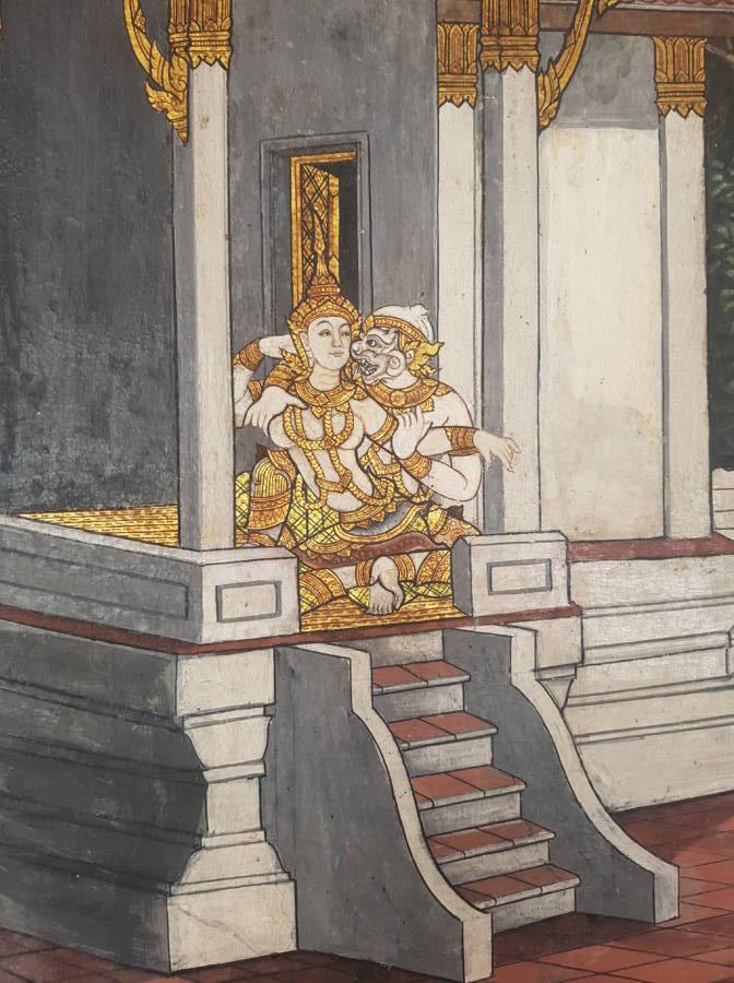 Erotic art of monkey king in sex act