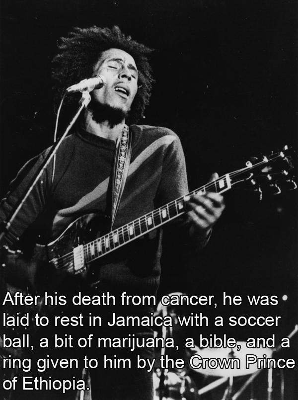 Burial Items Interesting Bob Marley Facts