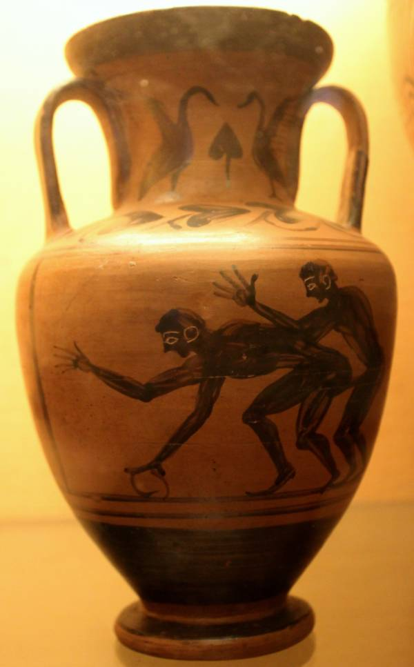 Ceramic pot showing sex