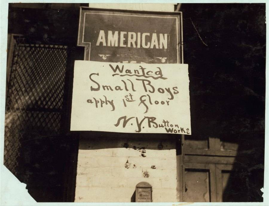 Child Labor Wanted Sign