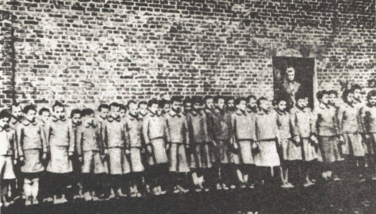 Children In A Nazi Labor Camp