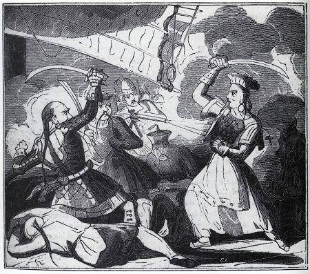 Illustration of Ching Shih fighting
