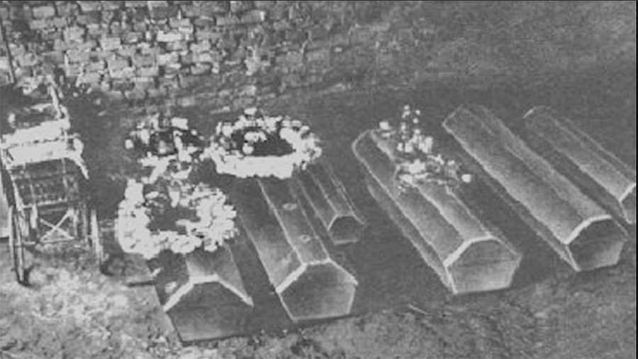 Coffin of the gruber family