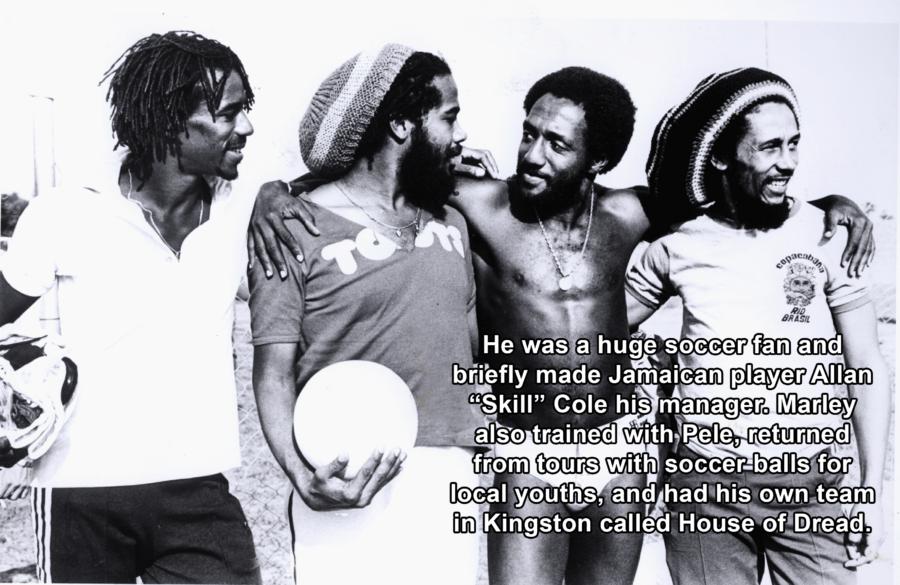 Bob Marley Holding Soccer Ball