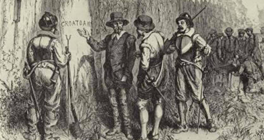 Croatoan Carving At Lost Roanoke Colony