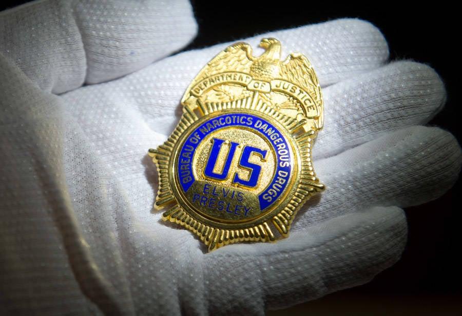 Elvis' Bureau of Narcotics and Dangerous Drugs Badge.