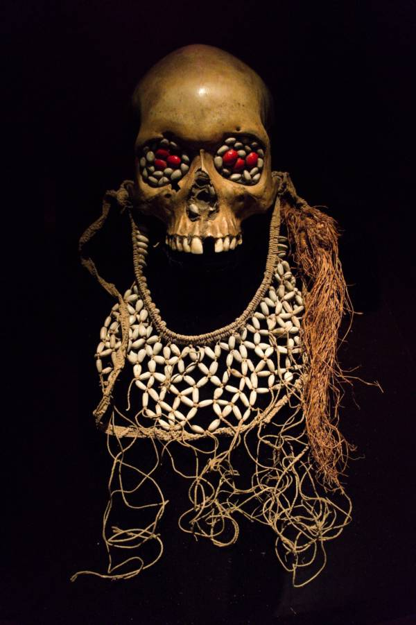 Asmat Decorated Skull