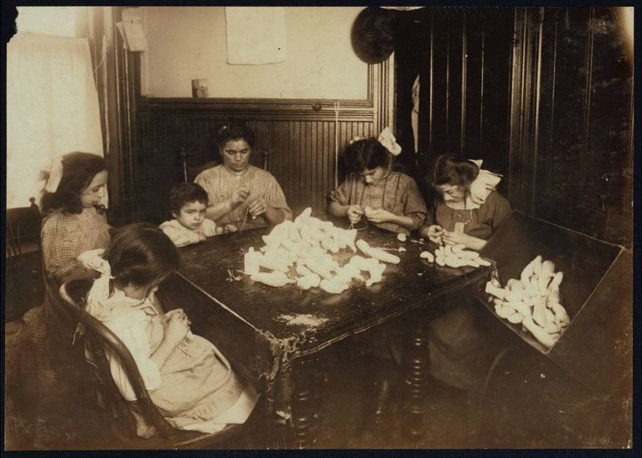 Family Making Doll Parts