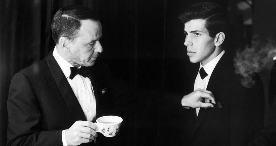 Frank Sinatra Jr and his father Frank Sinatra Sr.