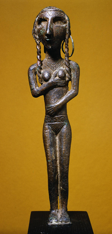 Hittite statue of a nude goddess