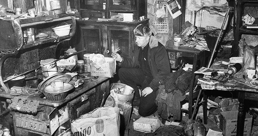 Inside Ed Gein's house