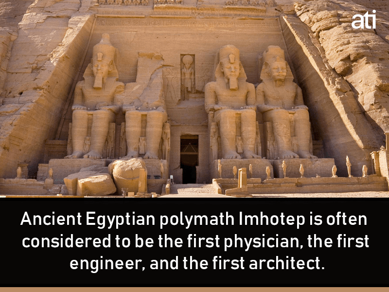 Imhotep First Physician Architect Engineer