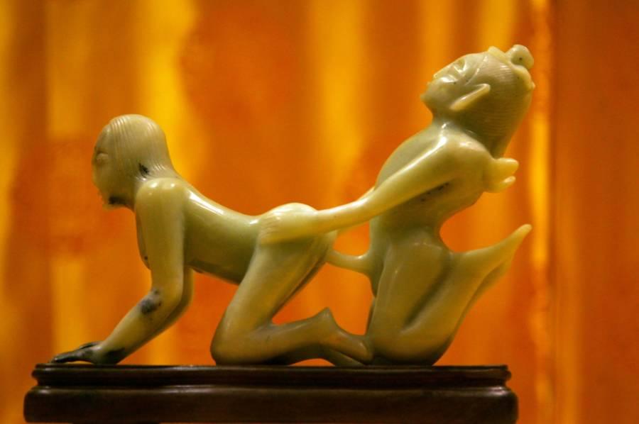 Jade sex statue
