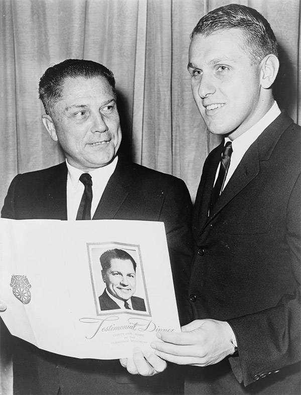 Jimmy Hoffa With His Son